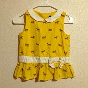 Janie and Jack Size 10 Yellow Horse Top